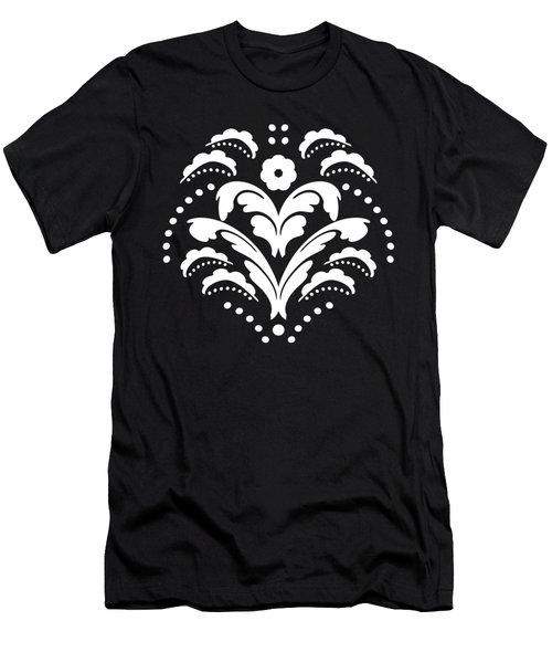 Black And White Art Deco Men's T-Shirt (Athletic Fit)