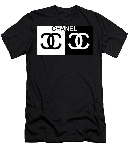 Black And White Chanel Men's T-Shirt (Athletic Fit)