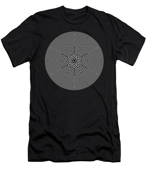 Men's T-Shirt (Athletic Fit) featuring the digital art Black And White Mandala 10 by Robert Thalmeier