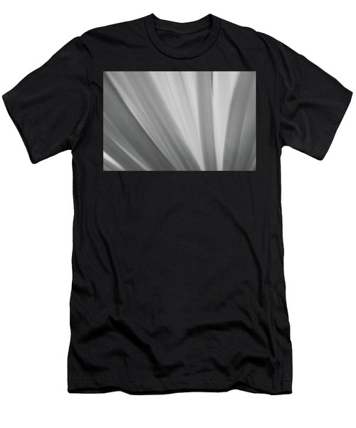 Black And White Mum Petals Men's T-Shirt (Athletic Fit)