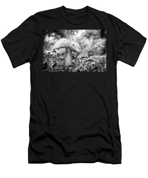 Black And White Mushroom. Men's T-Shirt (Athletic Fit)