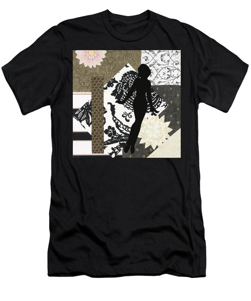Black And White Paper Doll Men's T-Shirt (Athletic Fit)