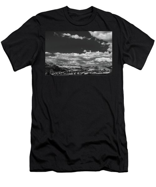 Black And White Small Town  Men's T-Shirt (Athletic Fit)