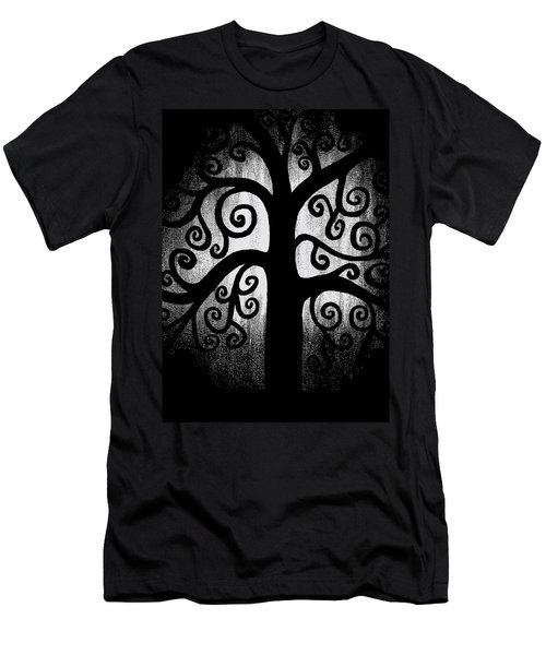 Black And White Tree Men's T-Shirt (Slim Fit) by Angelina Vick