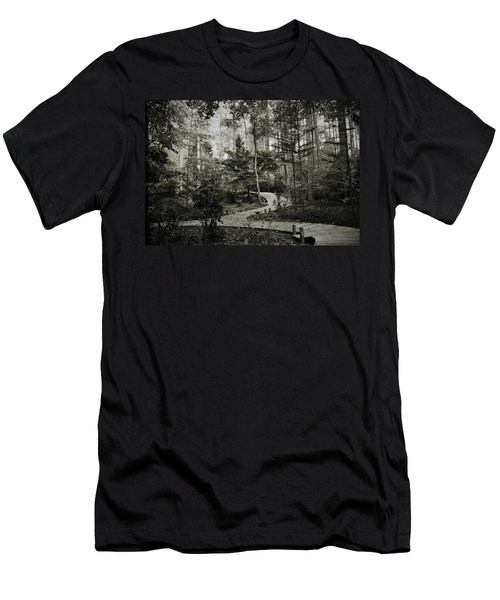 Black And White Vintage Edit -walk In Peace  Men's T-Shirt (Athletic Fit)