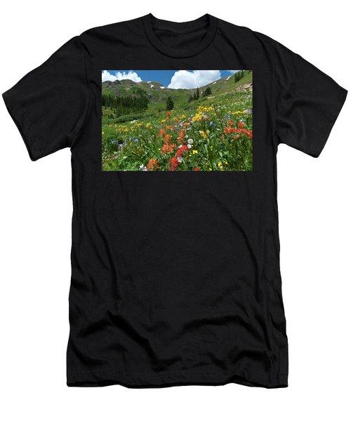 Black Bear Pass Landscape Men's T-Shirt (Athletic Fit)