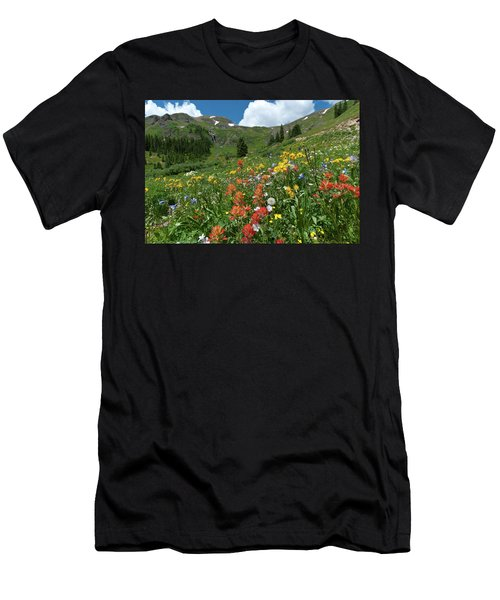 Black Bear Pass Landscape Men's T-Shirt (Athletic Fit)