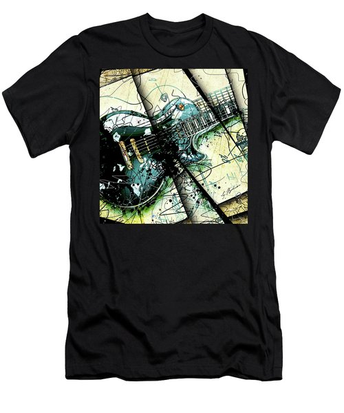 Black Beauty C 1  Men's T-Shirt (Slim Fit) by Gary Bodnar