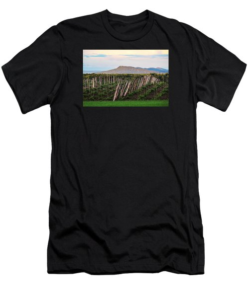 Black Birch Vineyard And Summit House View Men's T-Shirt (Athletic Fit)