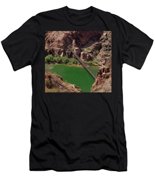 Black Bridge, Grand Canyon  Men's T-Shirt (Athletic Fit)