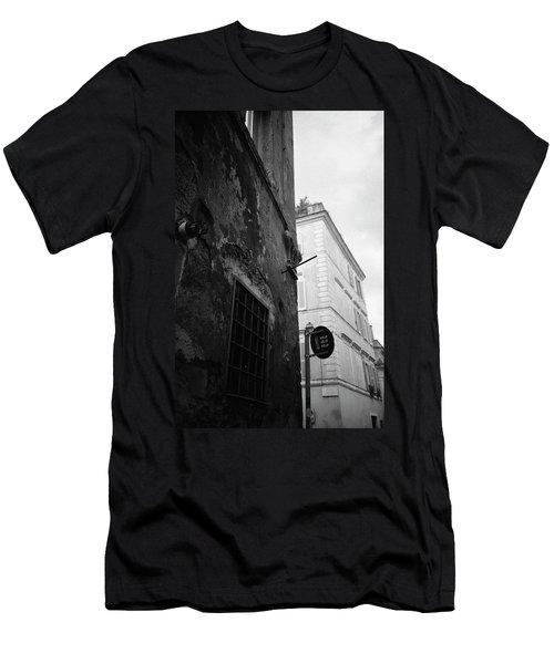 Black Building, White Building Men's T-Shirt (Athletic Fit)