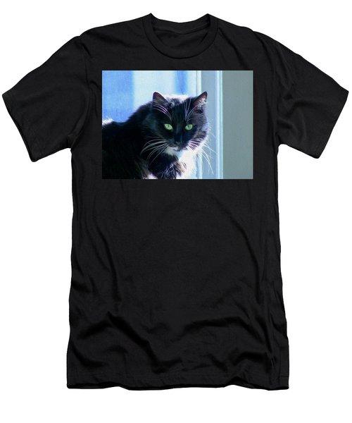 Black Cat In Sun Men's T-Shirt (Athletic Fit)