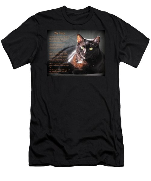 Black Cat The Way Men's T-Shirt (Athletic Fit)