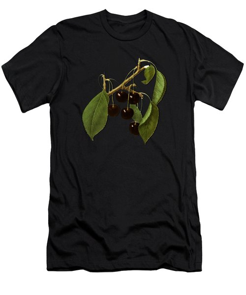 Black Cherries Men's T-Shirt (Athletic Fit)
