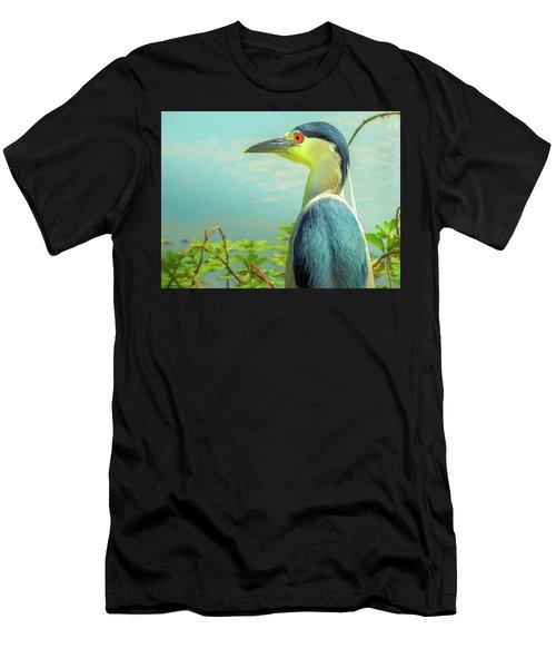 Black-crowned Night Heron Digital Art Men's T-Shirt (Athletic Fit)