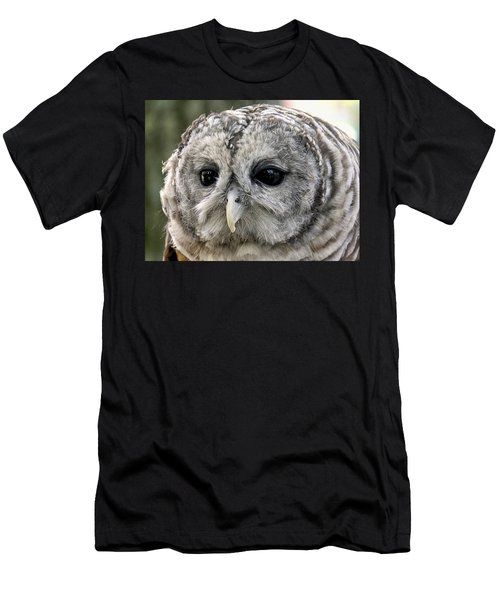 Black Eye Owl Men's T-Shirt (Athletic Fit)