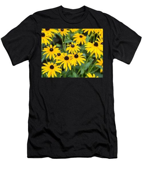 Men's T-Shirt (Slim Fit) featuring the photograph Black-eyed Susan Up Close by E Faithe Lester