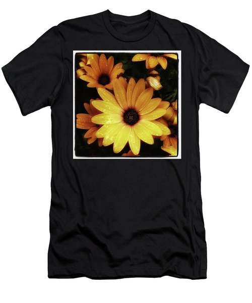 Men's T-Shirt (Athletic Fit) featuring the photograph Black Eyed Susans. Looks Like They're by Mr Photojimsf