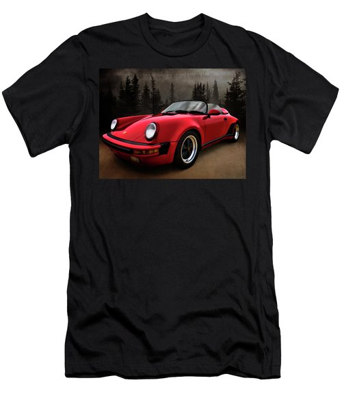 Black Forest - Red Speedster Men's T-Shirt (Slim Fit) by Douglas Pittman