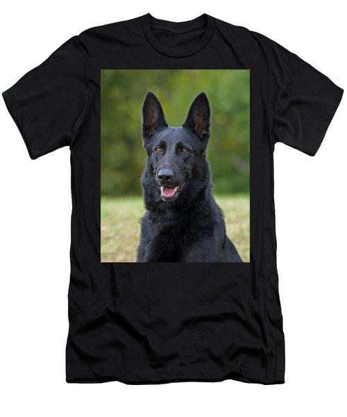Black German Shepherd Dog Men's T-Shirt (Athletic Fit)