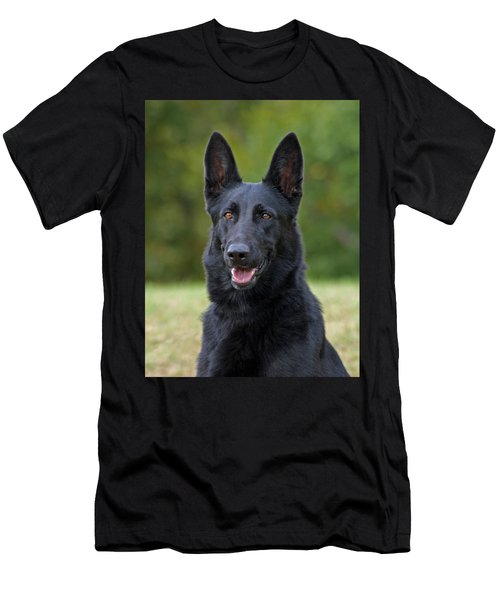 Black German Shepherd Dog Men's T-Shirt (Athletic Fit)
