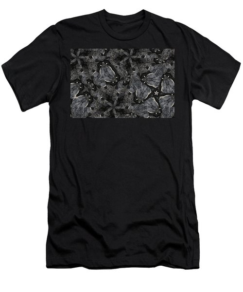 Black Granite Kaleido 3 Men's T-Shirt (Slim Fit) by Peter J Sucy