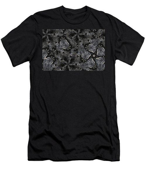 Black Granite Kaleido 3 Men's T-Shirt (Athletic Fit)