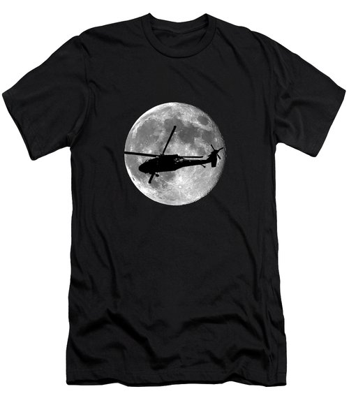 Black Hawk Moon .png Men's T-Shirt (Slim Fit)