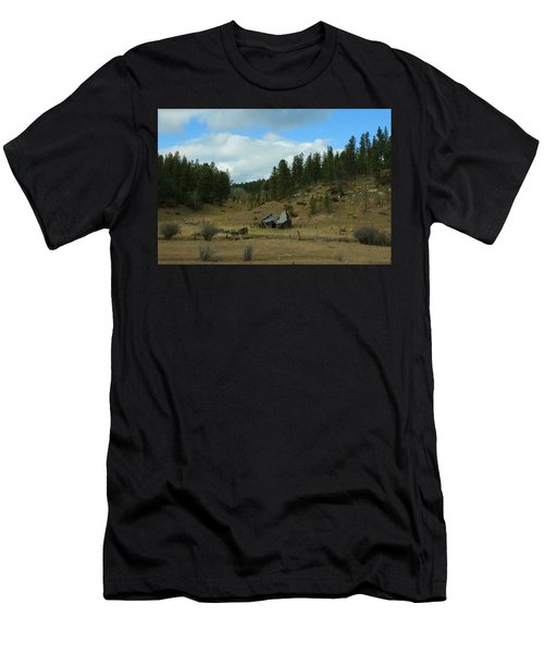 Black Hills Broken Down Cabin Men's T-Shirt (Athletic Fit)