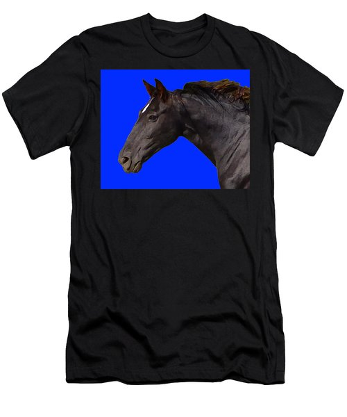 Black Horse Spirit Blue Men's T-Shirt (Athletic Fit)