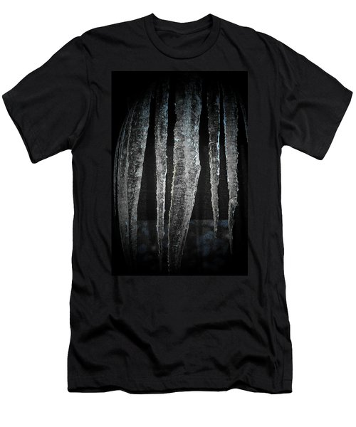 Men's T-Shirt (Slim Fit) featuring the digital art Black Ice by Barbara S Nickerson