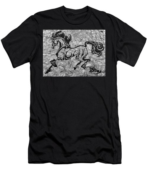 Black Jack Black And White Men's T-Shirt (Athletic Fit)