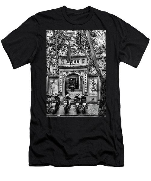 Black Pagoda Hanoi Men's T-Shirt (Athletic Fit)