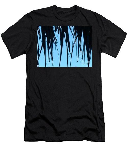 Black Palms On Blue Sky Men's T-Shirt (Athletic Fit)