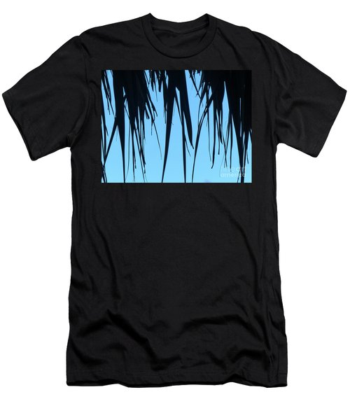 Black Palms On Blue Sky Men's T-Shirt (Athletic Fit)