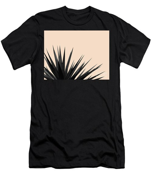 Black Palms On Pale Pink Men's T-Shirt (Athletic Fit)