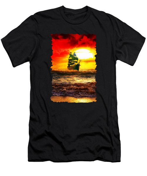 Black Pearl Men's T-Shirt (Slim Fit) by Koko Priyanto