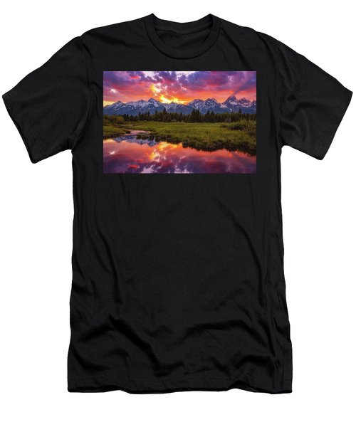 Black Ponds Sunset Men's T-Shirt (Athletic Fit)