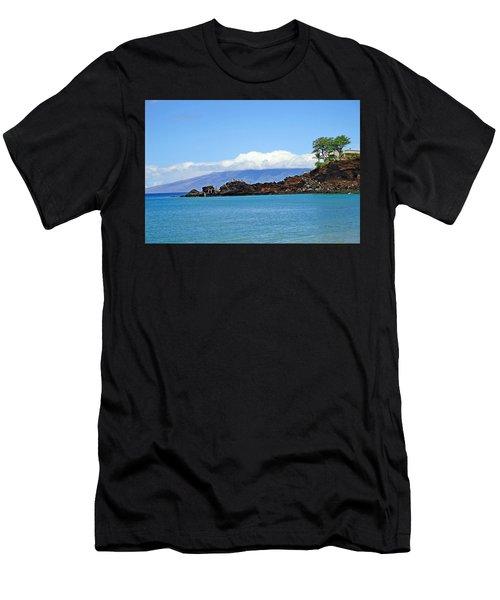 Black Rock Beach And Lanai Men's T-Shirt (Athletic Fit)