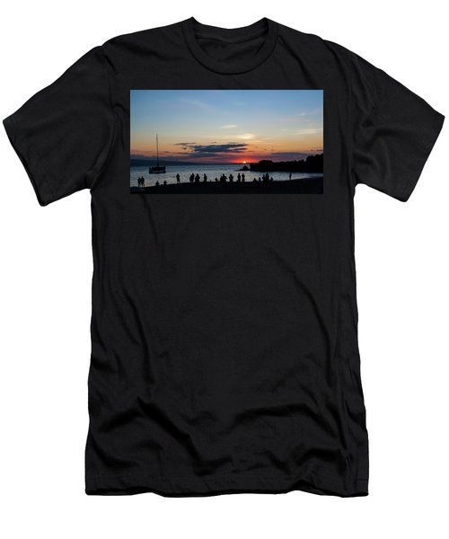 Black Rock Sunset Men's T-Shirt (Athletic Fit)