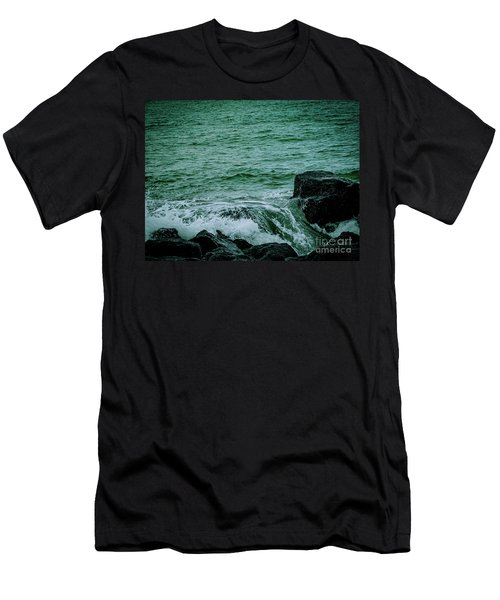 Black Rocks Seascape Men's T-Shirt (Athletic Fit)