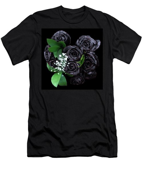 Black Roses Bouquet Men's T-Shirt (Athletic Fit)