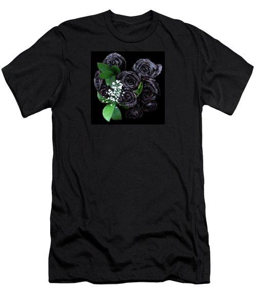 Black Roses Bouquet Men's T-Shirt (Athletic Fit)