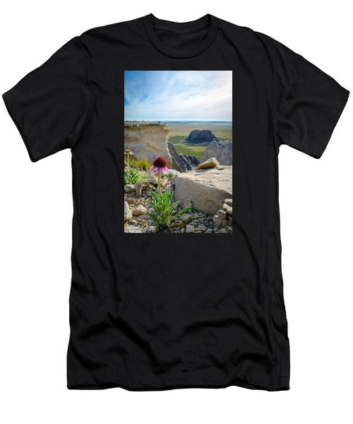 Black Sampson In The Badlands Men's T-Shirt (Athletic Fit)