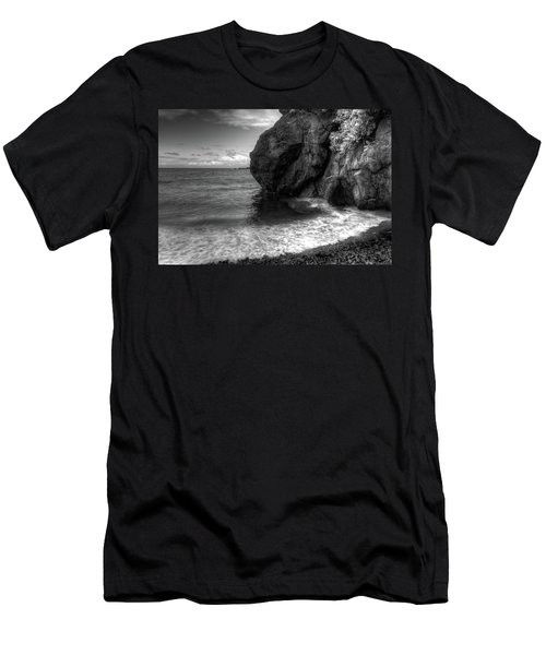 Black Sand Beach Men's T-Shirt (Athletic Fit)