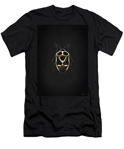 Black Shieldbug With Gold Accents  Men's T-Shirt (Athletic Fit)