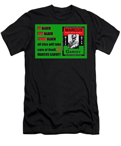 Black Star Garvey Men's T-Shirt (Athletic Fit)