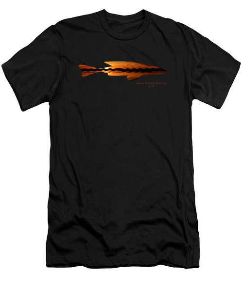 Black Striped Red Fin Men's T-Shirt (Athletic Fit)