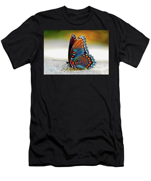 Black Swallowtail Butterfly 003 Men's T-Shirt (Athletic Fit)