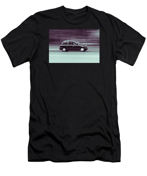 Black Taxi Bw Blur Men's T-Shirt (Athletic Fit)